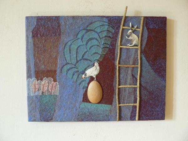 La poule et l'oeuf (40x32)
