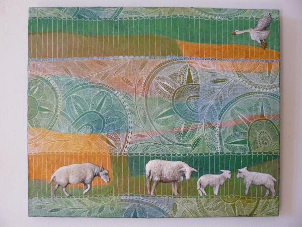 Moutons (41x34 cm)