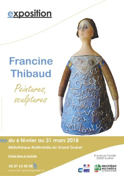 Affiche expo francinethibaud 424 x 600